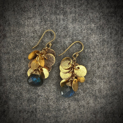 Stone & Medal Earrings
