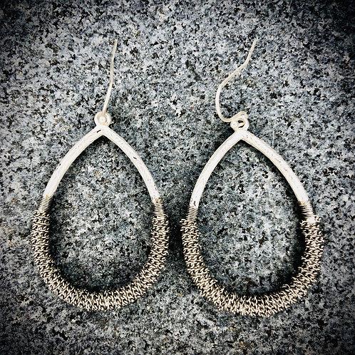 Brushed Metal Wrapped Earrings
