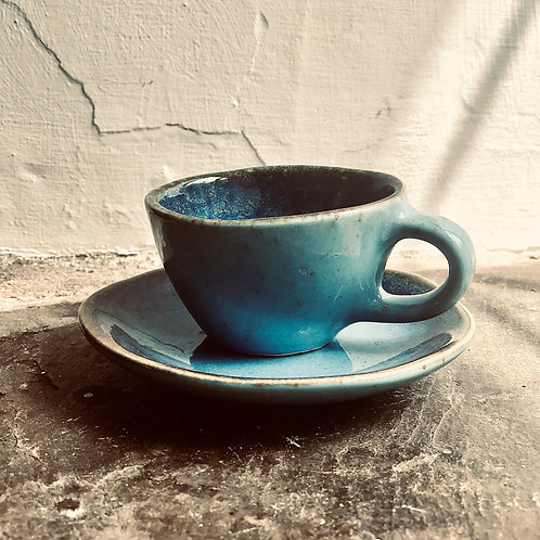 Handmade Cappuccino cup and saucer