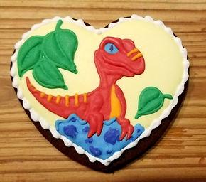 dinosaur on a cookie