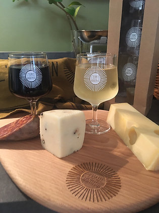 """Verres à vin """"L'Esprit Montpeul""""  Blanc"""