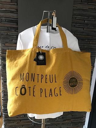 """Cabas XL """"Montpeul CÔTE PLAGE"""""""
