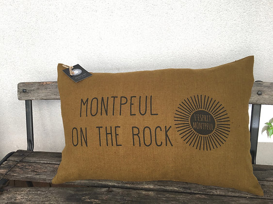 """Coussin """"MONTPEUL ON THE ROCK"""""""