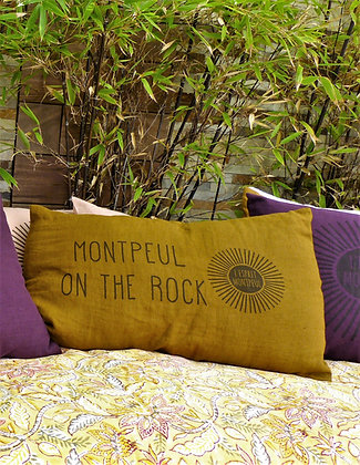 "Coussin ""MONTPEUL ON THE ROCK"""