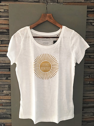 "Tee-shirt ""L'ESPRIT MONTPEUL"" Soleil"