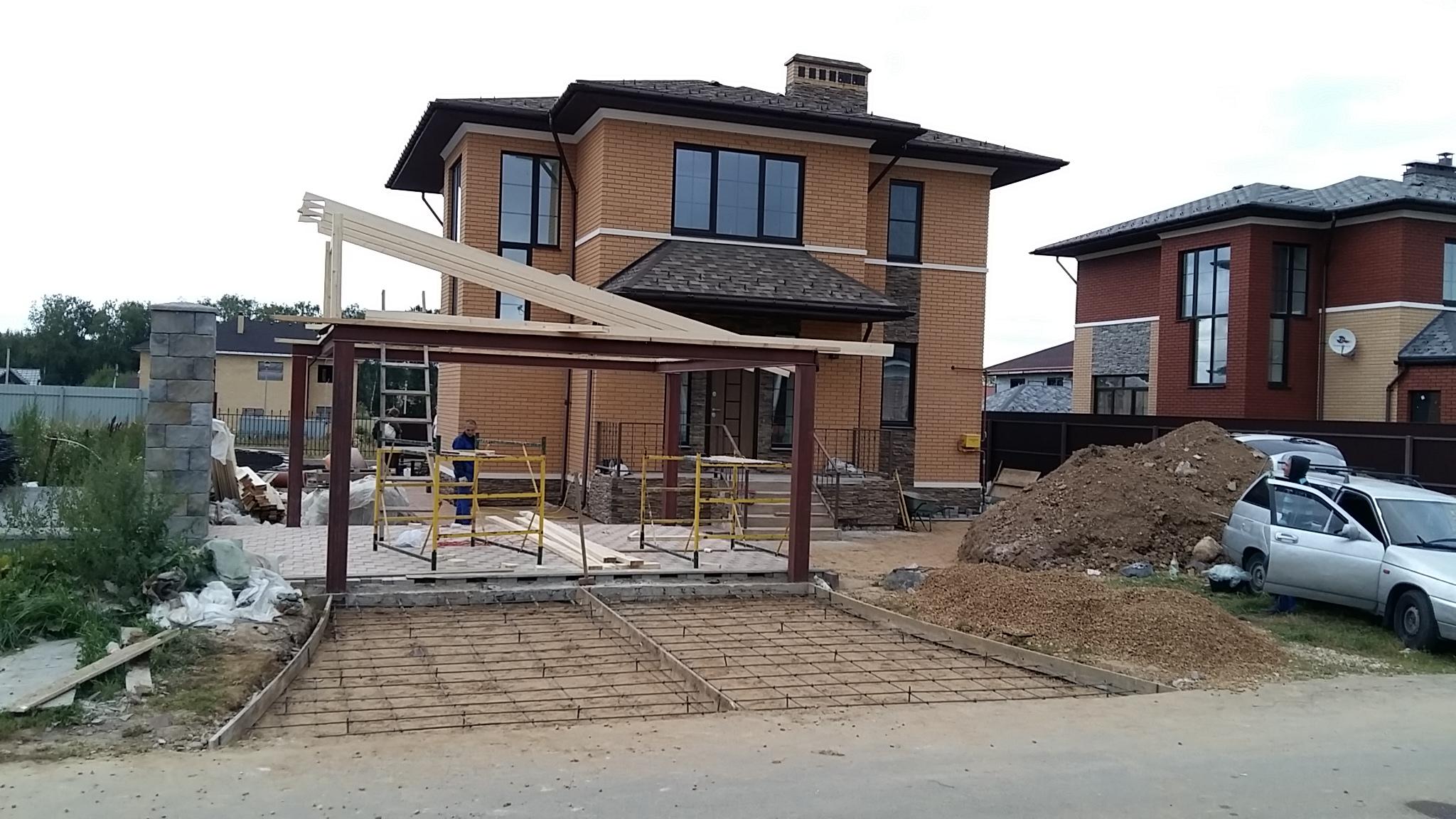 навес строительство