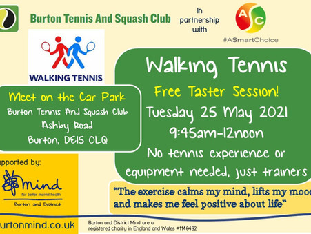 Free Walking Tennis Taster Session