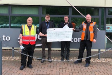 Argos Distribution Centre donate £3300 to Burton and District Mind as part of the 30 for 30 campaign