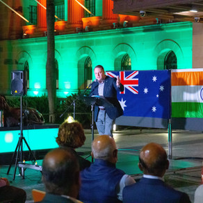 Community standing together in solidarity for India
