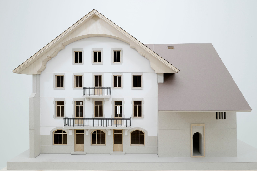 Maquette de la Maison de la Tourbière