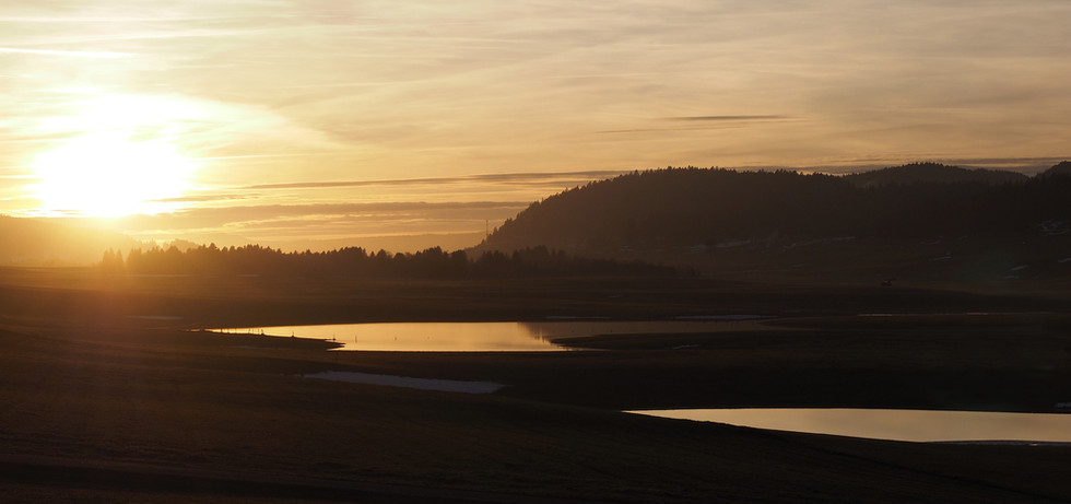 Panorama de la vallée inondée.