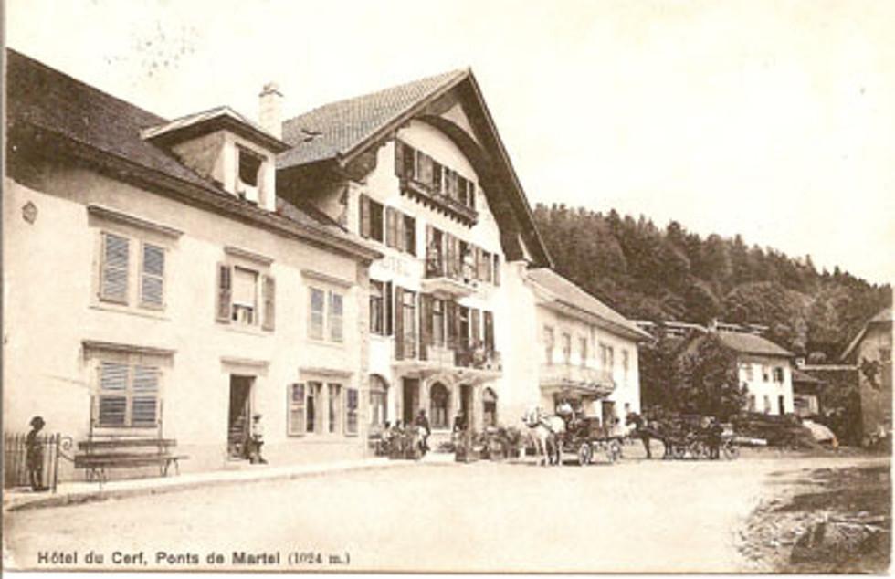 L'Hôtel du Cerf à l'époque