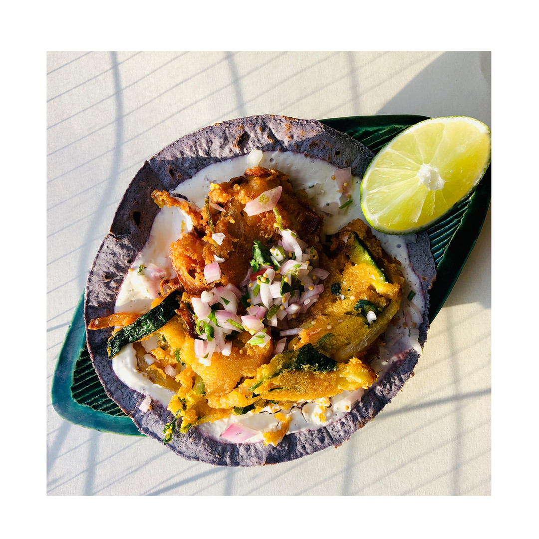 DIVE - Corgette Fritter Taco