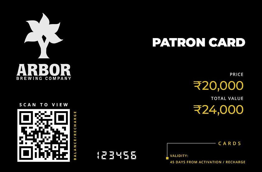 Patron Card ₹20,000