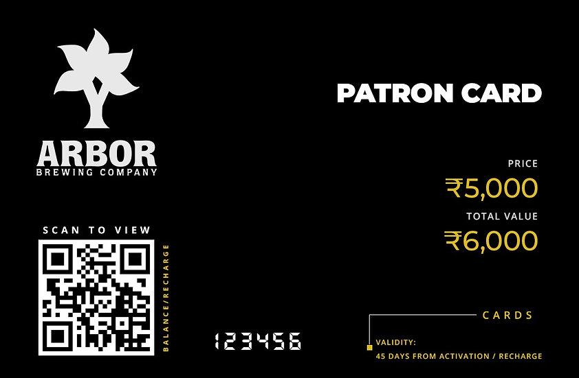 Patron Card ₹5,000