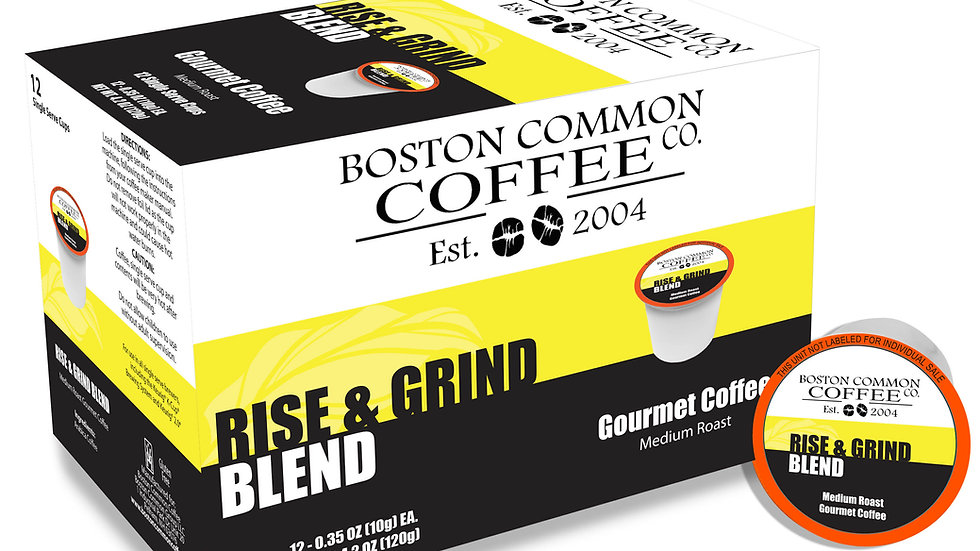 12 Count Rise and Grind (Single Serve Cup Only) Medium Roast 12 Count Box