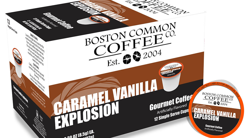 12 Count Caramel Vanilla Explosion (Single Serve Cup Only)