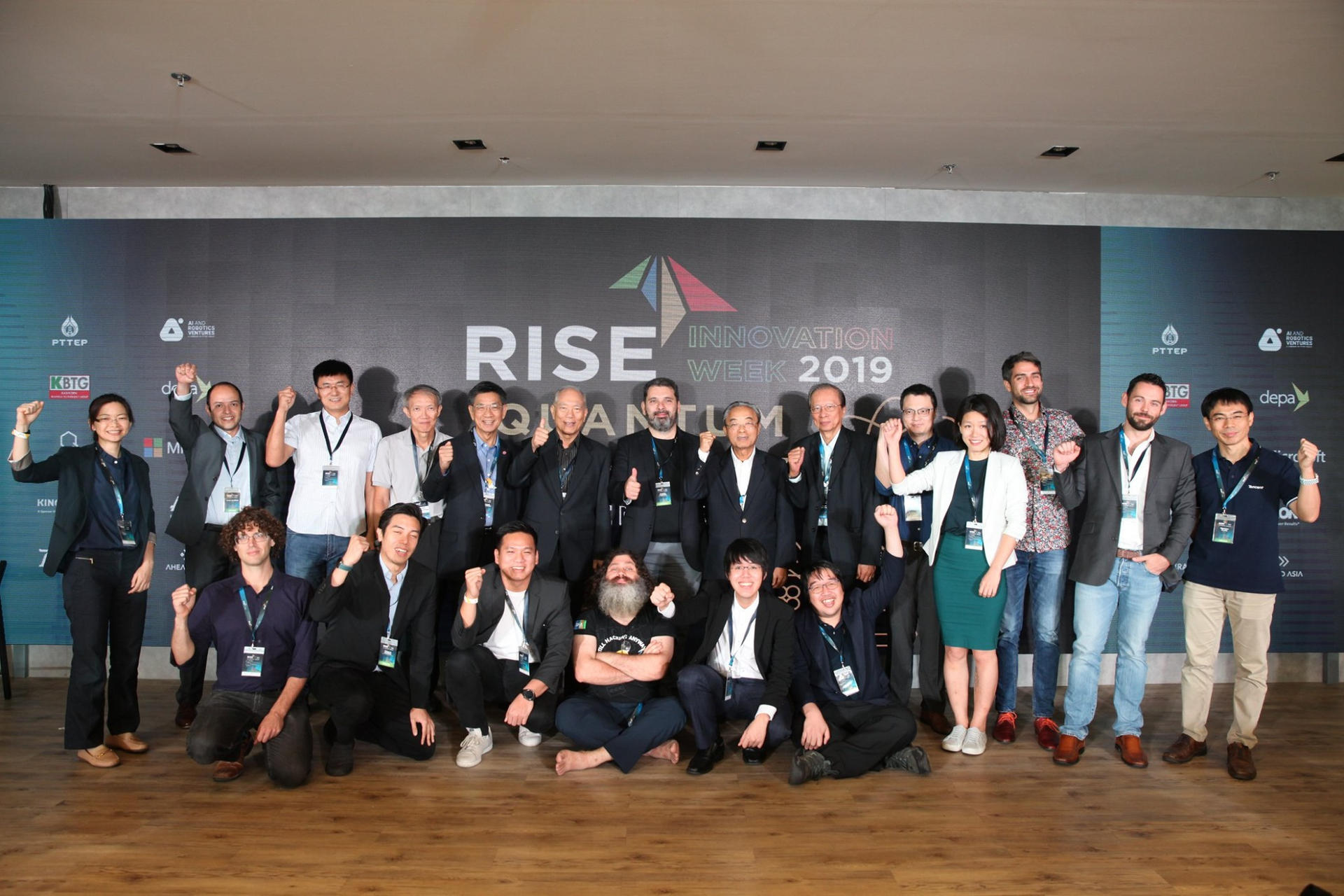 QTFT x RISE Innovation week 2019. Keynote speakers included the head of quantum computing team from Huawei, Baidu, Tencent, Senoir Researcher at Google, Principal Investigators from CQT and RQC.