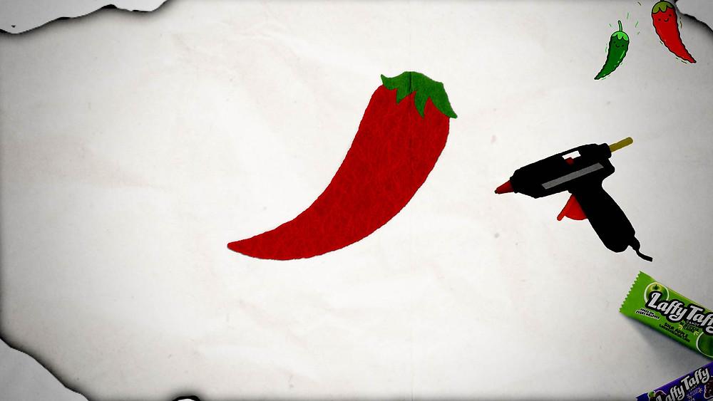 Laffy Taffy - Chili Pepper Costume - Step 3