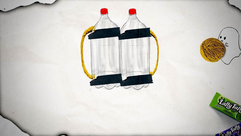 Laffy Taffy Scuba Diver Costume - Step 4
