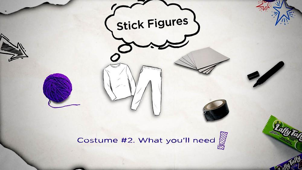 Stick Figure Costume - Step 1