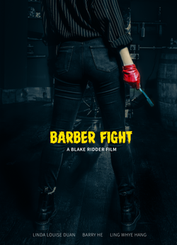 barber fight poster