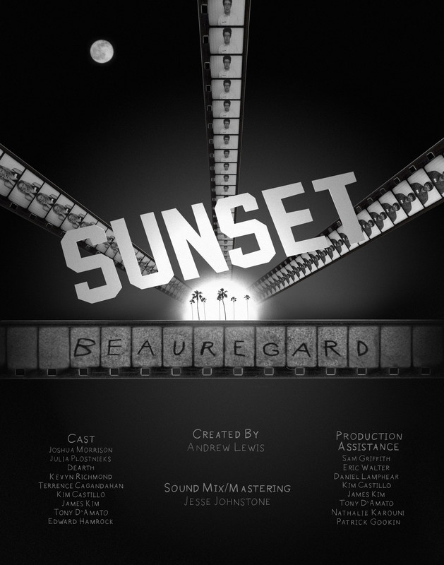 SUNSET BEAUREGARD -poster
