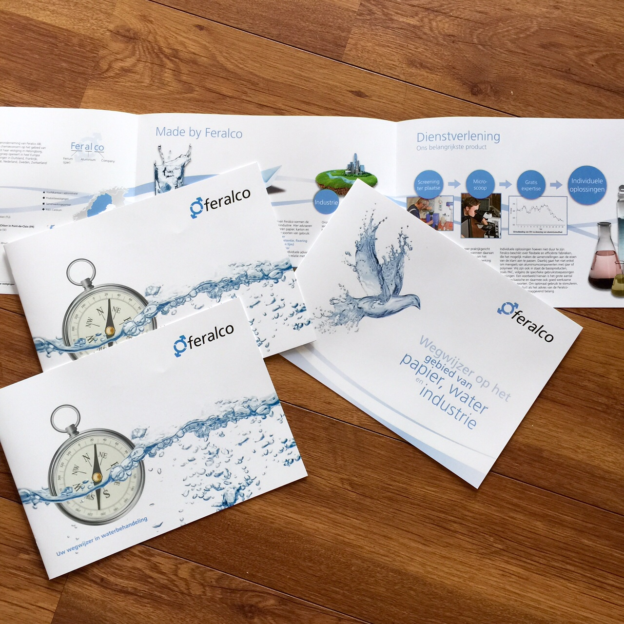folder en brochure