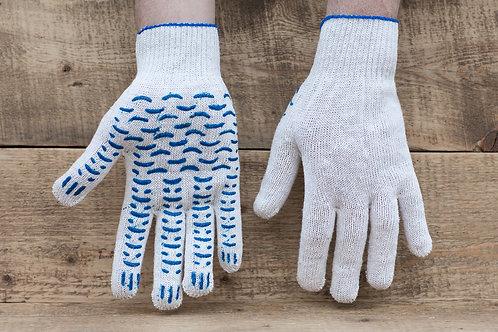 Перчатки ХБ с ПВХ 10 класс 4 нитка Волна купить
