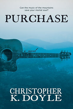 "The cover image of Purchase the novel is shown. A top quote reads: ""O, what would you give in exchange for your soul?"" The author's name at bottom reads: Christopher K. Doyle"