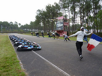 départ course karting