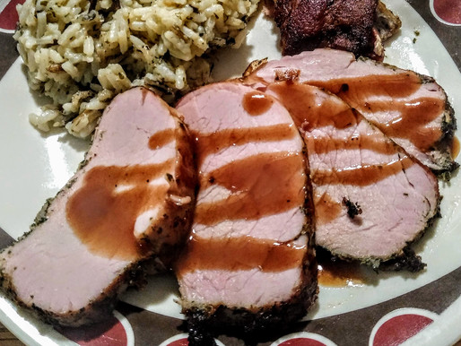 Bacon Wrapped Pork Tenderloin with Infused Gravy