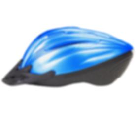 Blau Fahrradhelm