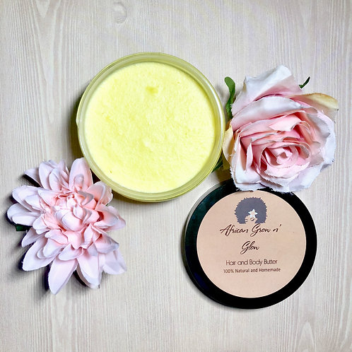 African Grow n' Glow Original Hair and Body Butter (8 OZ)