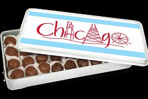 Assorted Chocolates in Chicago Souvenir Tin