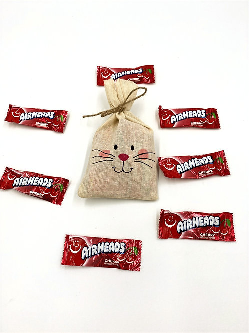 Single Easter Bunny Bag filled with Airheads