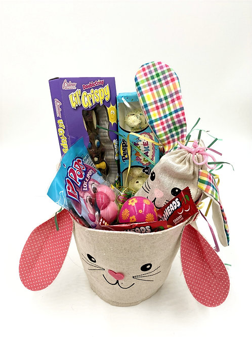 Easter Basket filled with a variety of Easter Candy