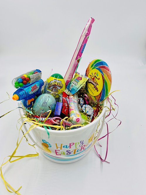Small Easter Tub filled with Easter Candy