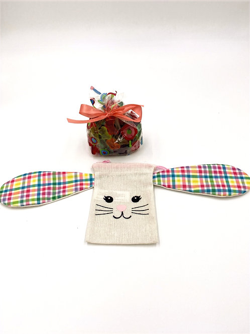 Easter Bunny Treat Bag with Butterfly Gummies