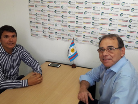 Con el objetivo puesto en la ciudad, Hugo Calvano recibió a Eduardo Tassano