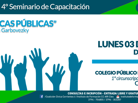 """La Coalición Cívica invita a la clase """"Políticas Públicas"""" de su Escuela de Gobierno"""