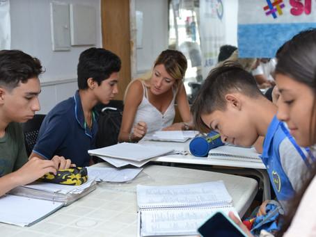 Desde la CC ARI brindamos clases de apoyo a estudiantes secundarios