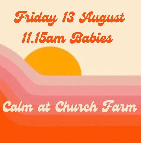 11.15am Fri 13 Aug Babies   Adult plus 1 child