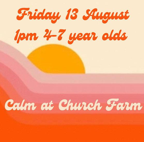 1pm Fri 13 Aug 4-7s   Adult plus 1 child