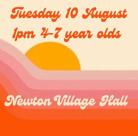1pm Tue 10 Aug 4-7s    Adult plus 1 child
