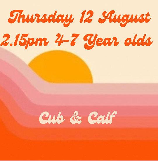2.15pm Thu 12 Aug 4-7s   Adult plus 1 child