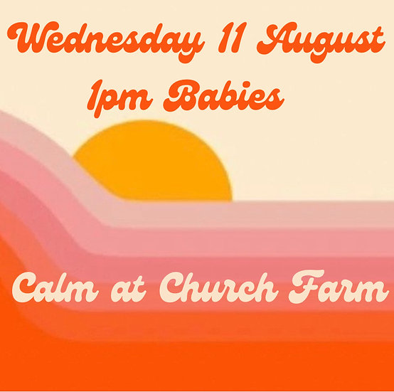 1pm Wed 11 Aug Babies   Adult plus 1 child
