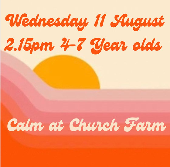 2.15pm Wed 11 Aug 4-7s   Family Booking