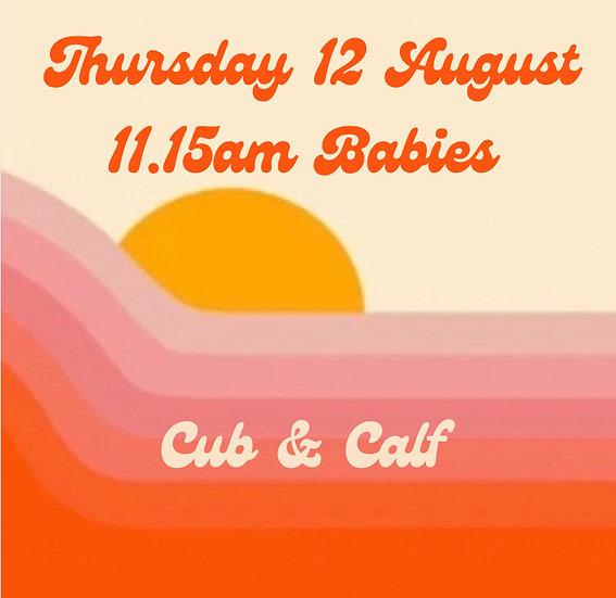 11.15am Thu 12 Aug Babies   Adult plus 1 child