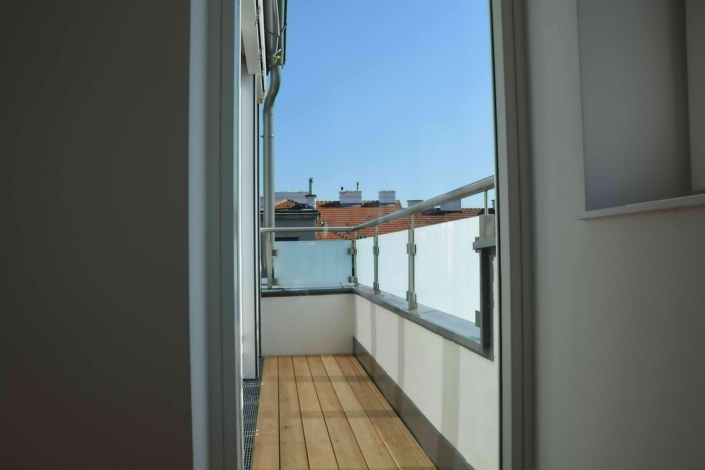 Terrasse vor Schlafzimmer
